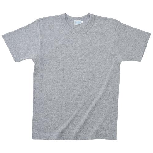 11500|国産無地Tシャツ|グランロボJメイド 丸胴Tシャツ(4 杢グレー)