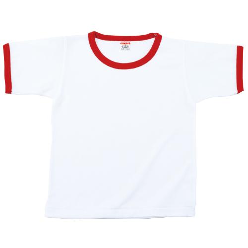 11000|国産無地Tシャツ|グランロボ リンガーTシャツ(7 ホワイト×レッド)